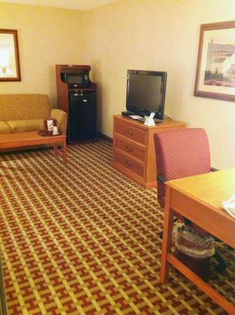 Best Western Plus Marion Hotel: Suite with recliner, pull out couch, large TV and work desk