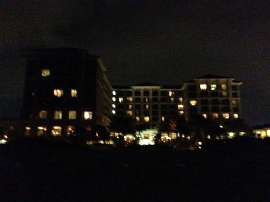 Sandpearl Resort: view from the beach at night