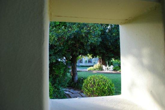 La Plume: Vista desde la puerta de la cabaña