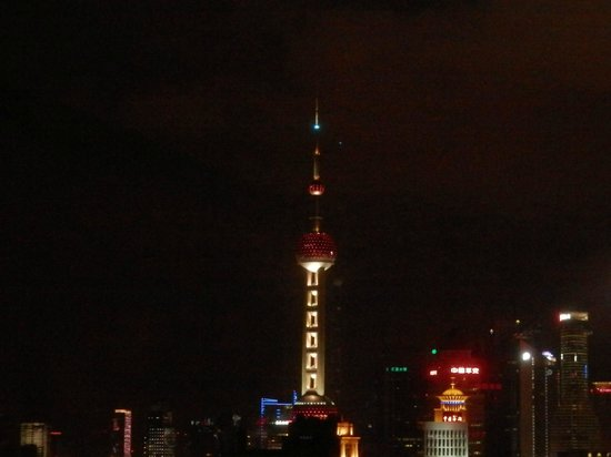 Salvo Hotel Shanghai: Night View from Room 2520