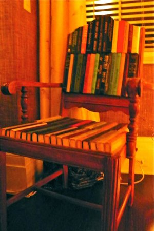 The Inn at Willow Grove: Art chair in the Library (public space)