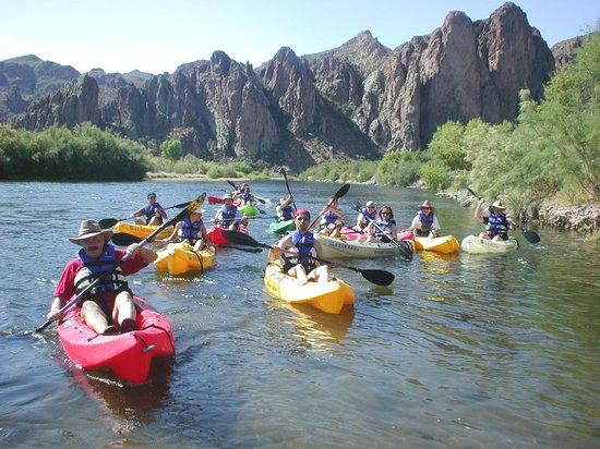 Saguaro Lake Guest Ranch: Kayaking