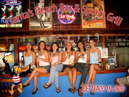 Man Cave Jaco : The clarita girls working hard picture of clarita's beach bar