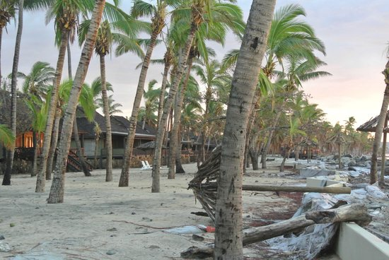 Sonaisali Island Resort Fiji: The damage caused by the cyclone was extensive.