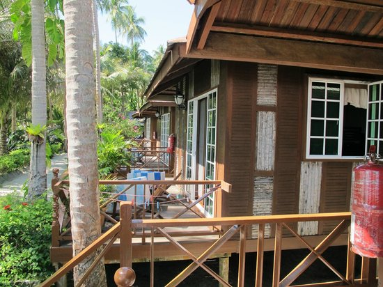 Sipadan Mabul Resort: The chalet decks