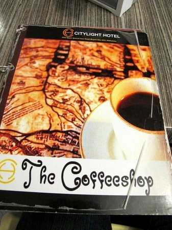 Citylight Hotel : Coffeeshop Menu