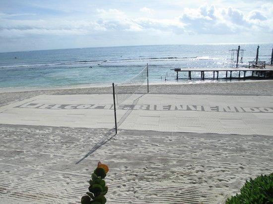 Secrets Silversands Riviera Cancun: Beach Volleyball area