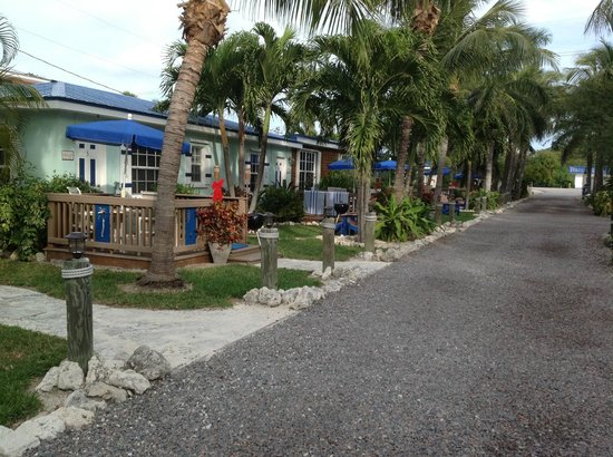 Island Bay Resort : Some of the cottages with decks/patios
