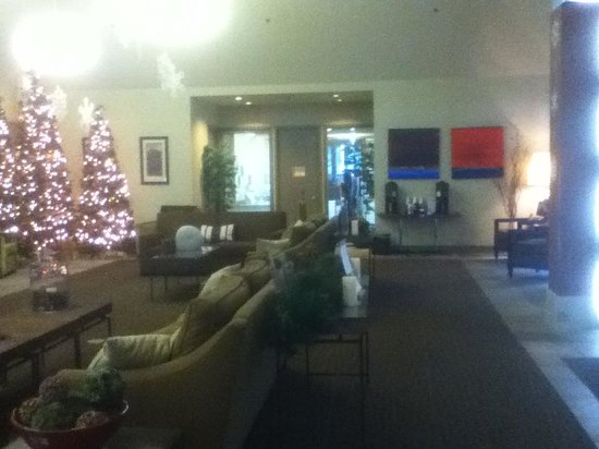 Resort at The Mountain, BW Premier Collection: Empty, frosty, fluorescent lobby w/temporary coffee bar