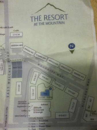Resort at The Mountain, BW Premier Collection : Map of the main campus