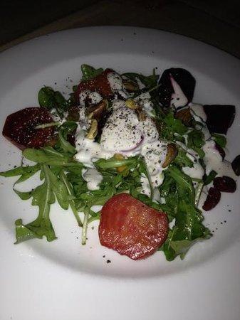 Bijoux: grilled beet salad..