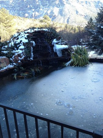 Oak Creek Terrace Resort: Koi Pond