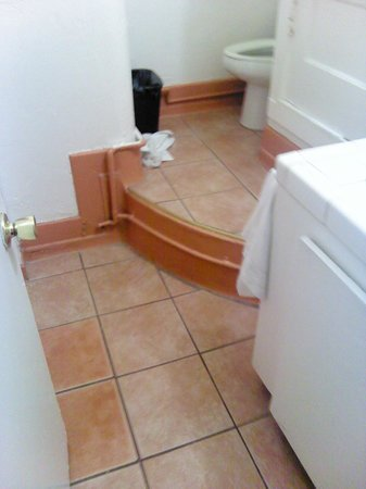 Harborview Inn and Suites: Steps up to the toilet.