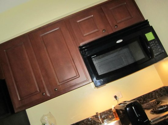 Sandpiper Gulf Resort: microwave is a really good size