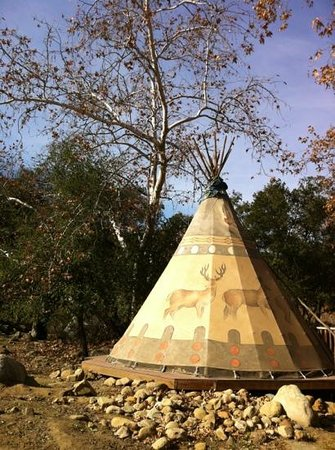 Ventura Ranch KOA: several beautiful teepees available for rent