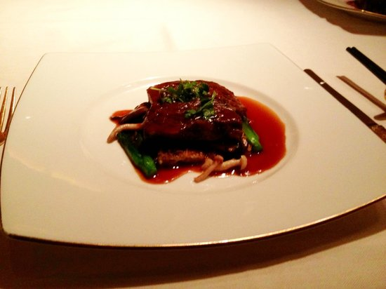 Wing Lei: Braised short rib with miracle sauce and wonder mushrooms.