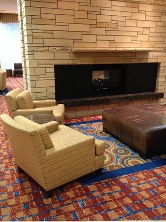 Residence Inn Sacramento Downtown at Capitol Park: Fireplace in the hotel lobby