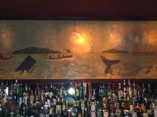 Whaling Bar & Grill: the mural painting in Whaling Bar