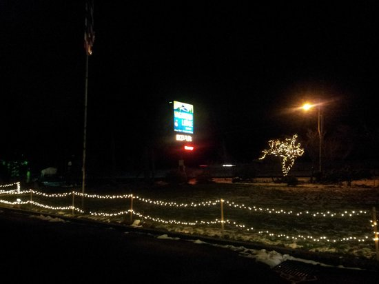 Westcliff Lodge: Christmas lights