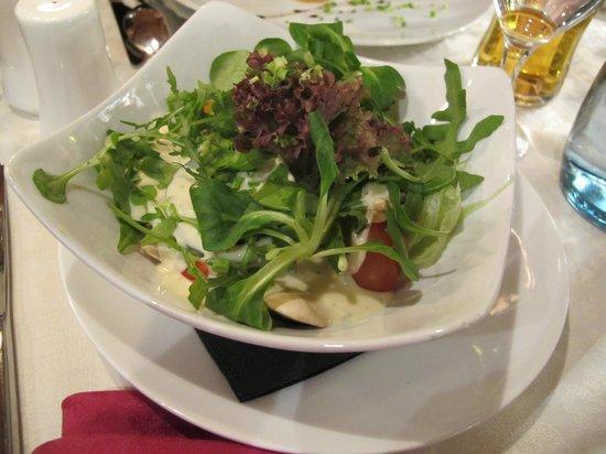 Maximilians: the salad that comes with Wiener Schnitzel