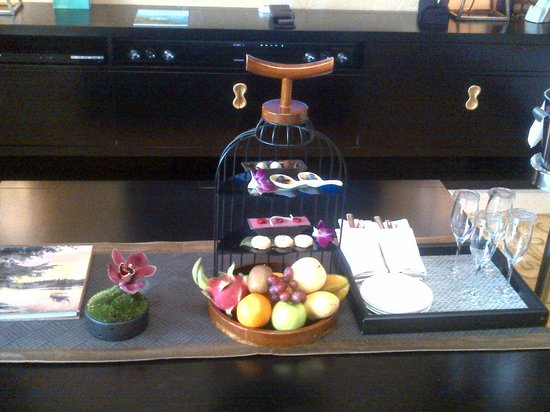 Banyan Tree Macau: The welcome snacks