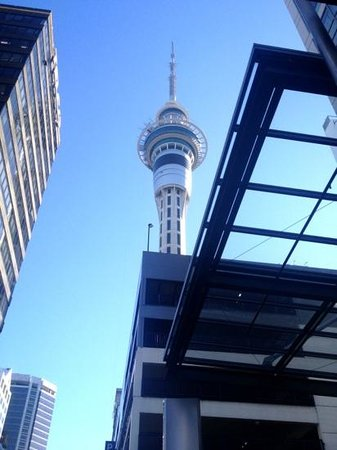 Rydges: Skytower from front of Hotel