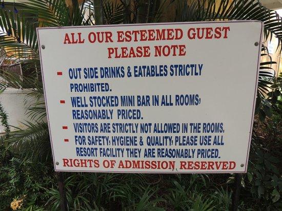 Nizmar Resort: Rules!!???