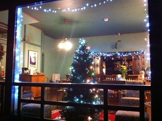 Argyll Guesthouse: Christmas lights from outside