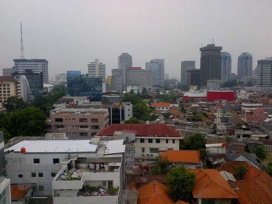 Morrissey Hotel Residences: View of Jakarta from the room