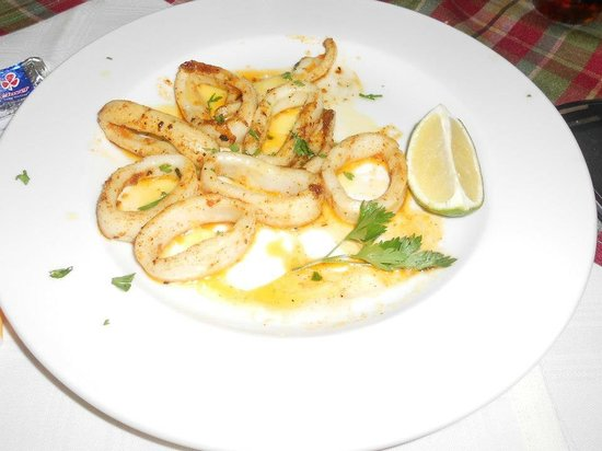 Calamari starter, Fishmonger