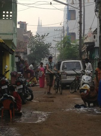 MYcycle - Mysore Cycle Tour: Local street