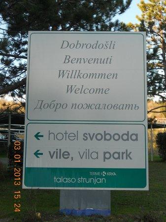 Svoboda Hotel: cartello