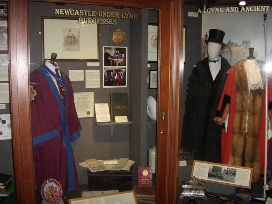 Brampton Museum: Newcastle under Lyme Museum & Art Gallery; coats for councillors