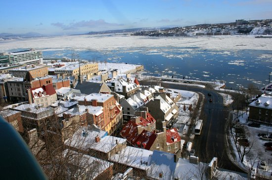 Старый Квебек: View of the St. Lawrence River from Upper Old Quebec