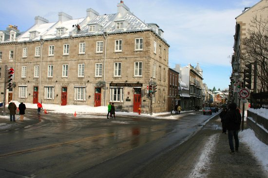 Small hotels are sprinkled within the buildings entering Old Quebec