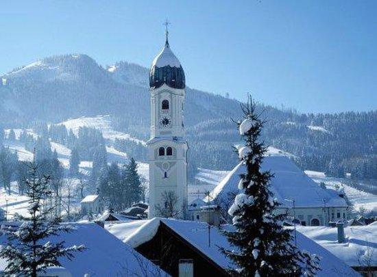 Landhaus Ohnesorg: Blick zur Alpspitz Nesselwang