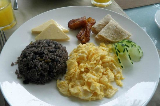 The Royal Corin Thermal Water Spa & Resort: Typical Costa Rican Breakfast