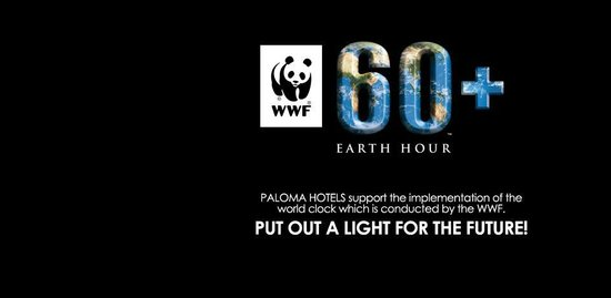 Paloma Grida Resort & Spa: Paloma Hotels Earth hour participation 2012