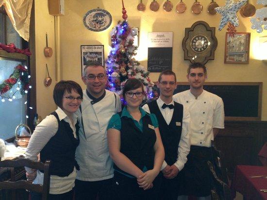 Hotel Du Grand Cerf : L'équipe au complet