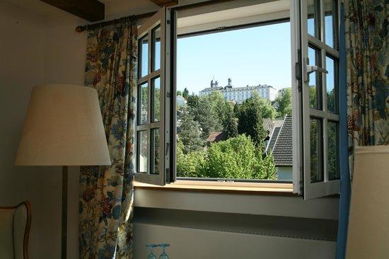 Romantik Waldhotel Mangold : Aussicht aus einem Romantik-Doppelzimmer