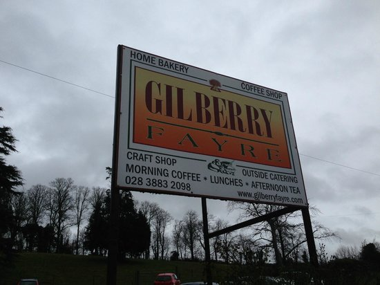 Gilberry Fayre, road sign