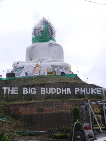 Phuket Big Buddha: Big Buddha with Scaffolding