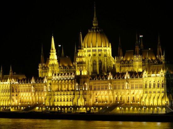 art'otel budapest: View of parliment building from our balcony