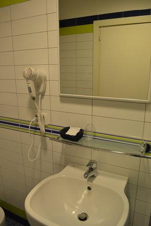 Hotel Nuova Italia: Hairdryer & sink