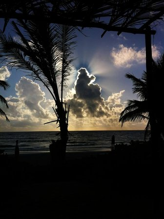 Cabanas Tulum: Solopgang under morgenmaden