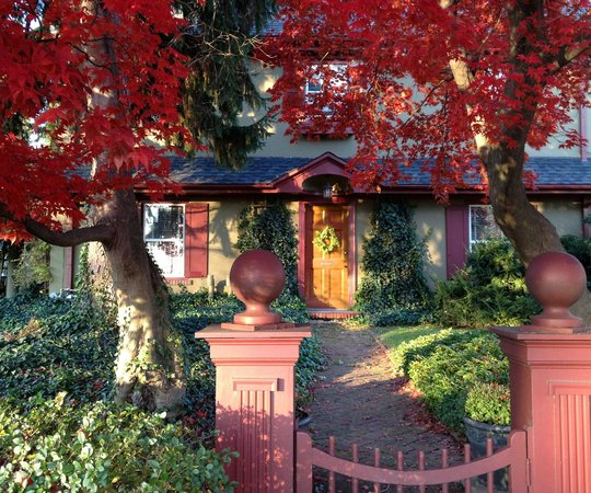 The Lancaster Bed and Breakfast: The Front Walk in Fall