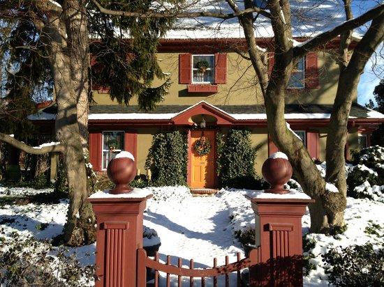 The Lancaster Bed and Breakfast: A View of Inn in Snow
