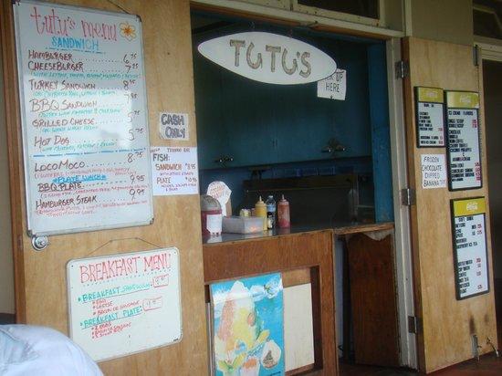 Tutu's Snack Shop: The front of TuTu's