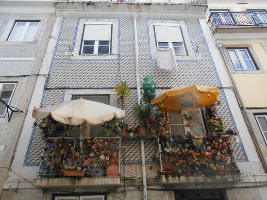 Bairro Alto: Camp balcony at Rua Luz Soriano
