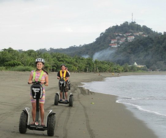 Segway Tours of Costa Rica: Beach on Jungle Island Tour - Manuel Antonio in Back Ground